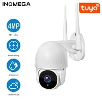 inqmega tuya ptz smart cloud outdoor auto tracking 4mp ip camera google home alexa video surveillance cctv security camera