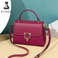 foxer womens handbag genuine leather lady shoulder crossbody bags classical small purse female messenger bag 2020 fashion totes