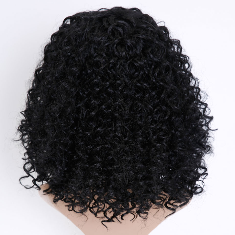 Pelucas MSTN Afro corto rizado para mujeres, pelucas sintéticas resistentes al calor, pelo negro Natural Afro africano americano