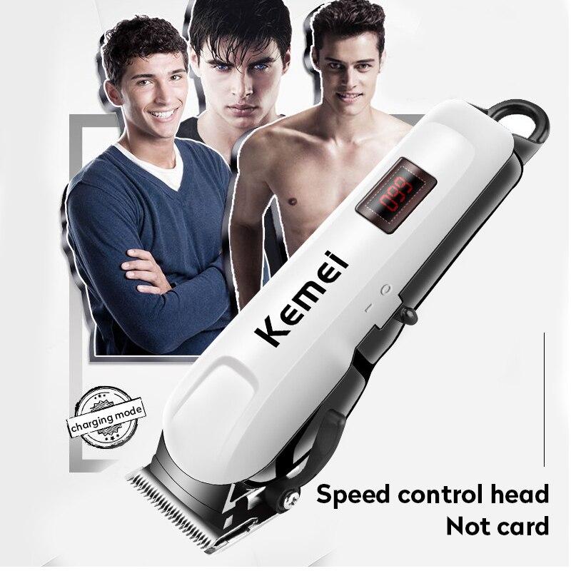 Kemei KM-809A cortadora de pelo impermeable aseo pantalla LCD recortadora maquinilla para cortar el pelo herramienta de estilismo profesional máquina de corte de pelo