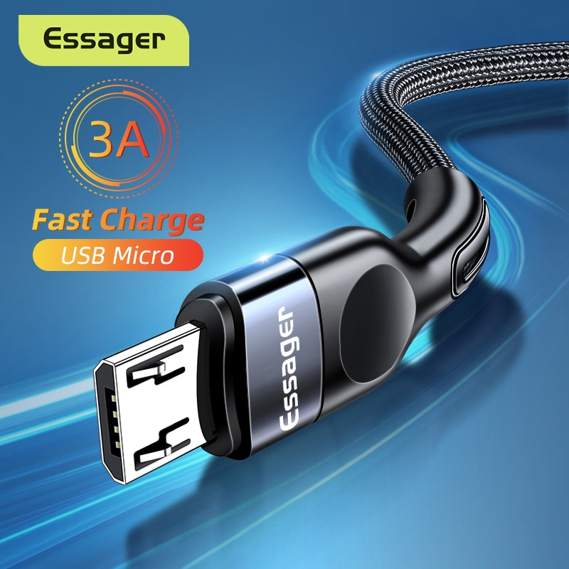 Essager Micro USB Cable 3A Fast Charging Charger Microusb Wire Cord For Samsung Xiaomi Redmi Android