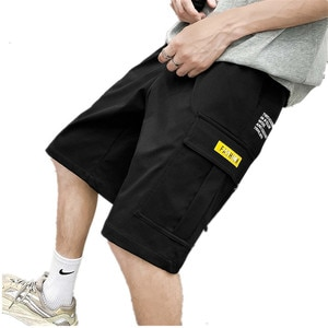 Шорты мужские повседневные хлопковые до колен, модные классические штаны для спорта, пляжные, большие размеры, на лето