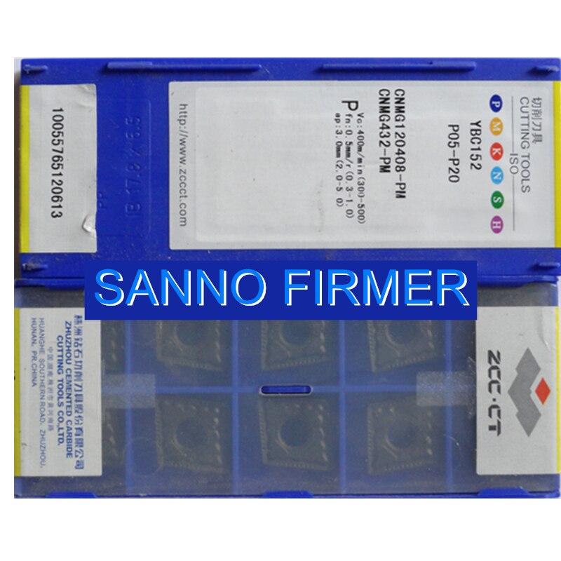 الأصلي 10 قطعة كربيد إدراج YBC152 CNMG120408-PM شفرة مخرطة تحول أداة لتجهيز الصلب