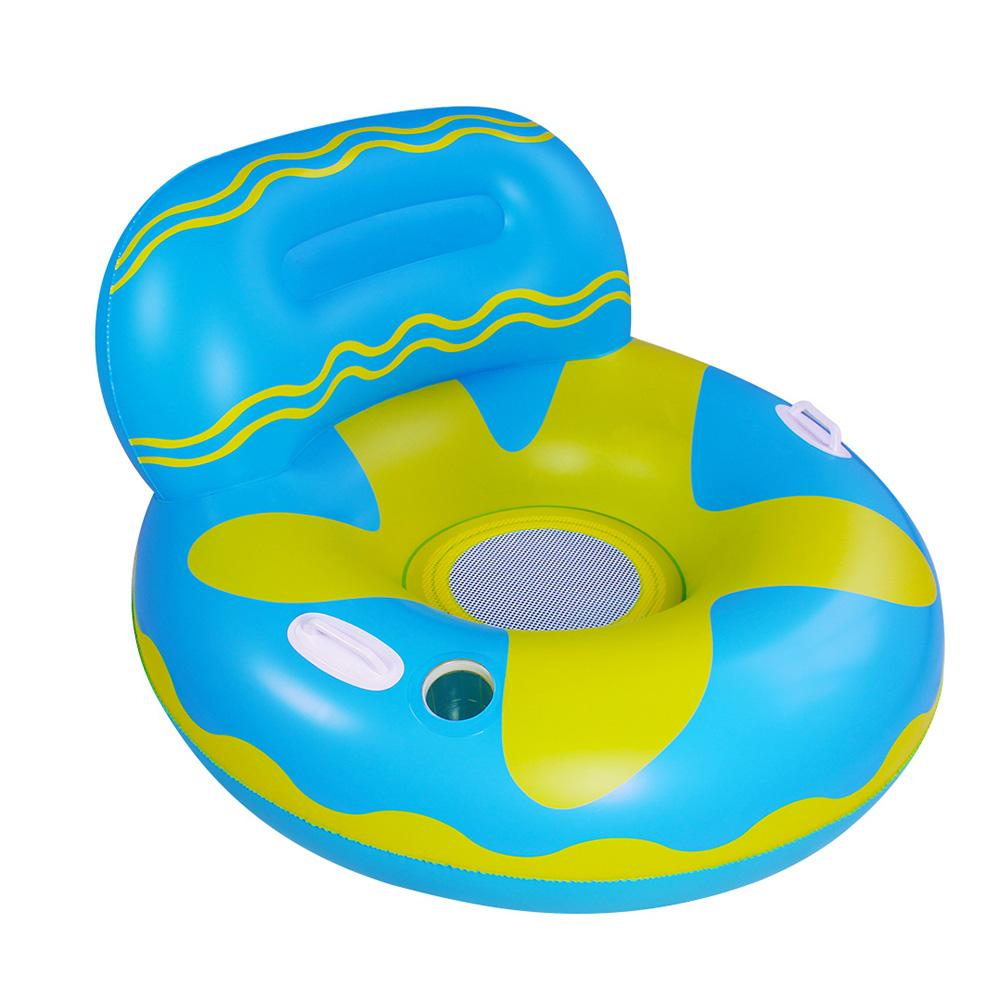 PVC más grueso inflable flotador Lounge piscina flotador silla con el cuffolder agua hamaca para fiesta de agua de verano