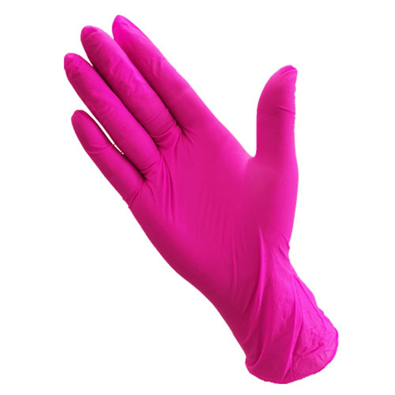 100pcs disposable latex gloves clean left and right general rose red dingqing makeup food processing disposable gloves