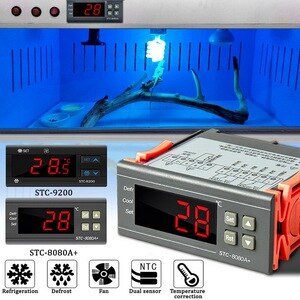 Temperature Controller Digital Thermostat Thermoregulator Incubator Relay LED Display Heating Cooling -8080A 220V