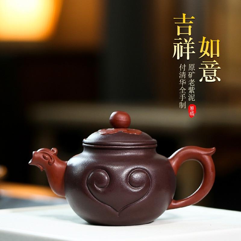Yixing-وعاء من الطين الأرجواني الخام ، صناعة يدوية ، طين أرجواني ، هدية من الشركة