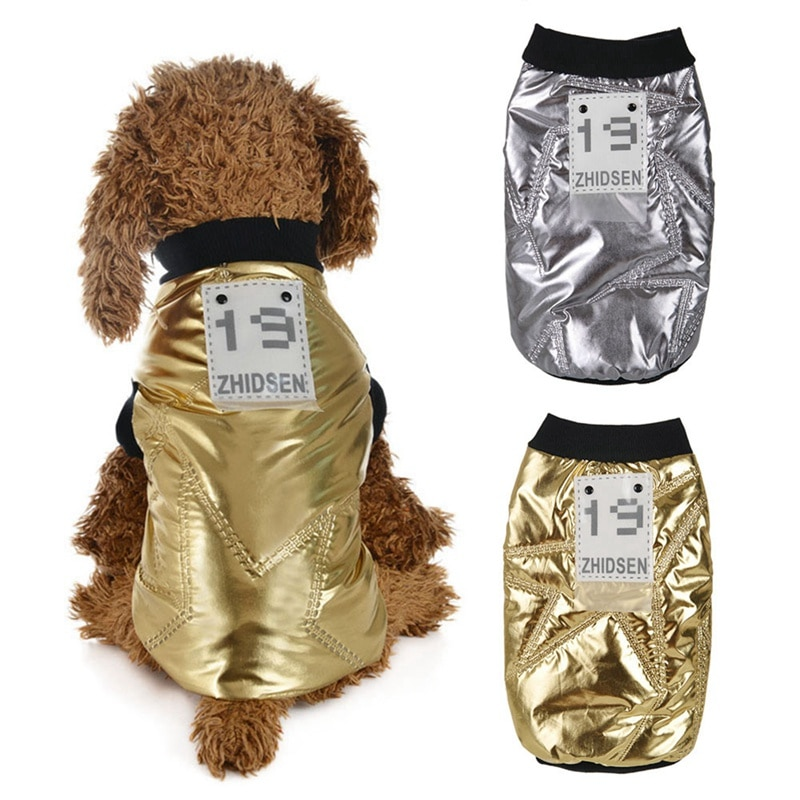 Moda divertida ropa de invierno para perro mascota chaqueta súper cálida abrigo de algodón grueso perros mascotas ropa para cachorro Bulldog francés XS-XL