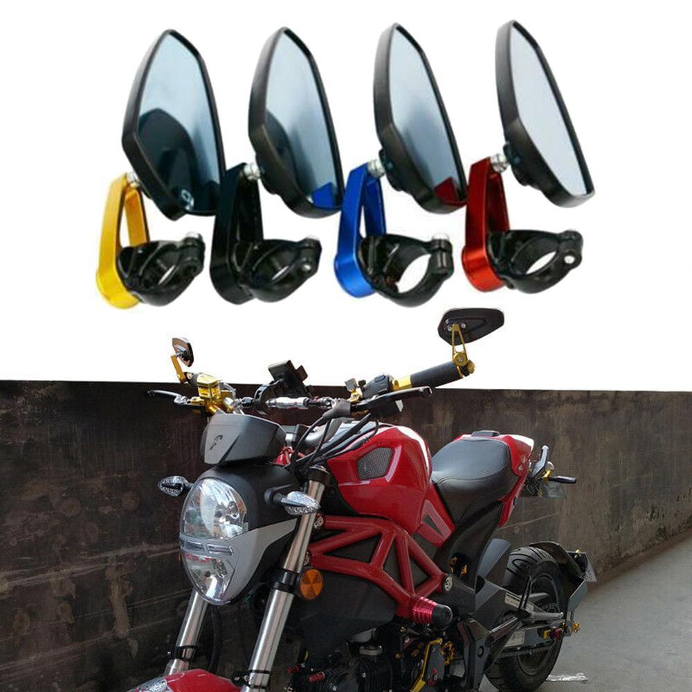 1 Pair  Motorcycle Aluminum Bar End Rearview Mirrors Universal Handlebar