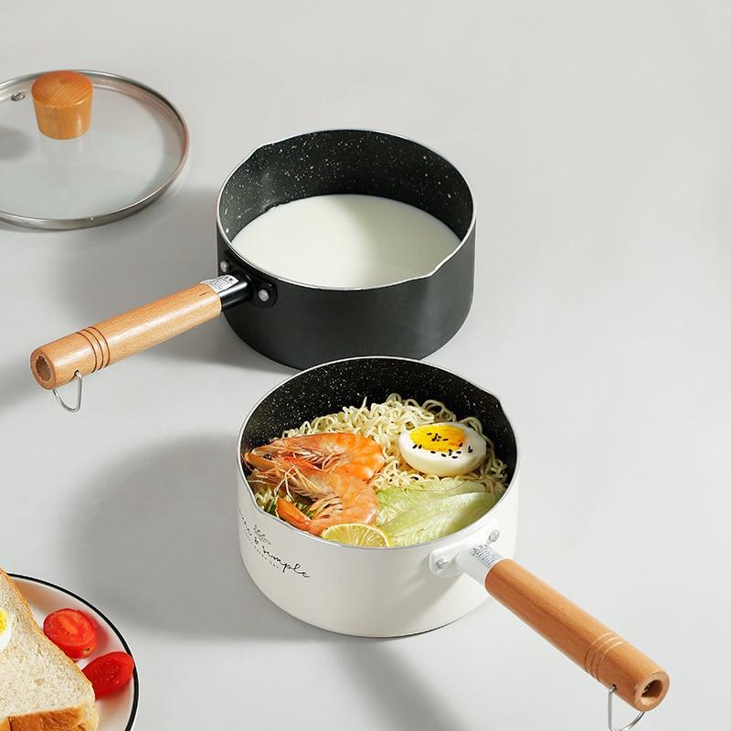 مكملات طعام أطفال غير لاصقة ، مقلاة ، وعاء حليب صغير متكامل ، مطبخ ، وعاء شوربة صغير ، LD609