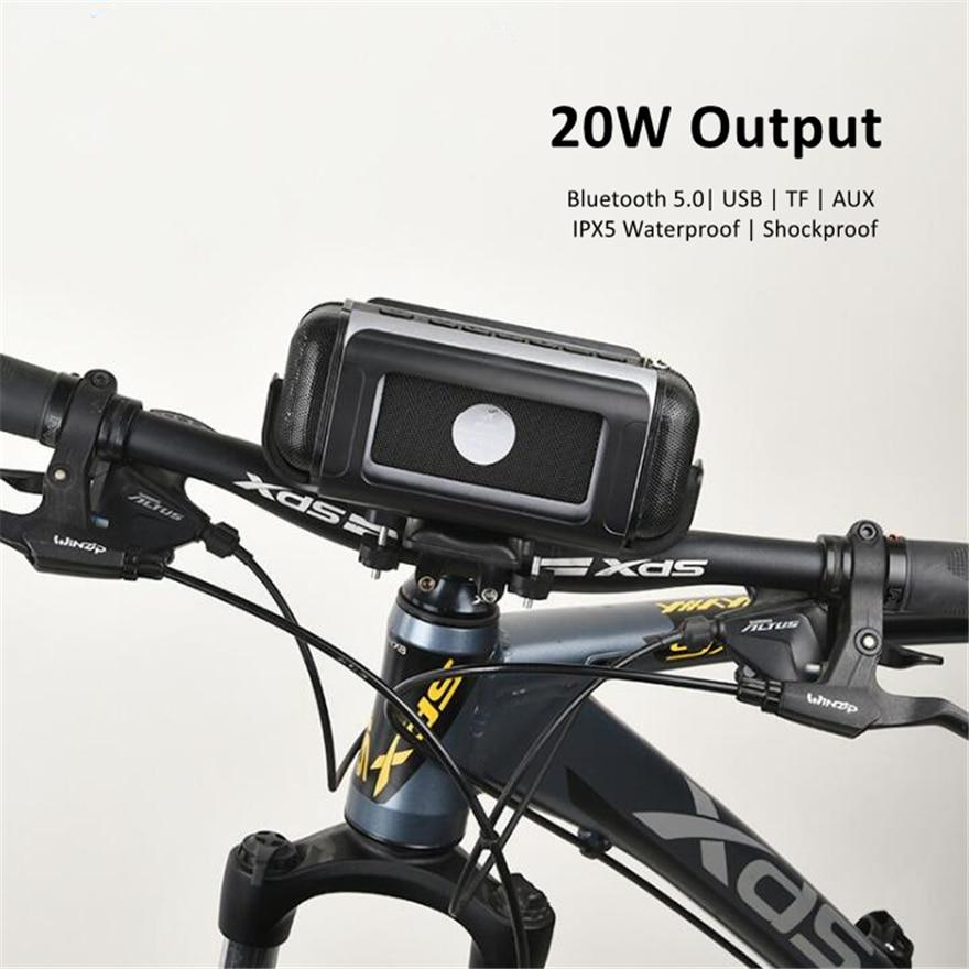 Bicycle Speaker 20W Radio Fm Bluetooth Hifi Stereo Bass Waterproof Usb  Outdoor Speakers 2.1 Subwoofer Soundbar Music Box