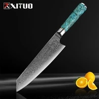 xituo damascus vg10 steel 8 inch chef knife professional japanese meat cleaver knife kiritsuke gyuto slicing kitchen knife tool