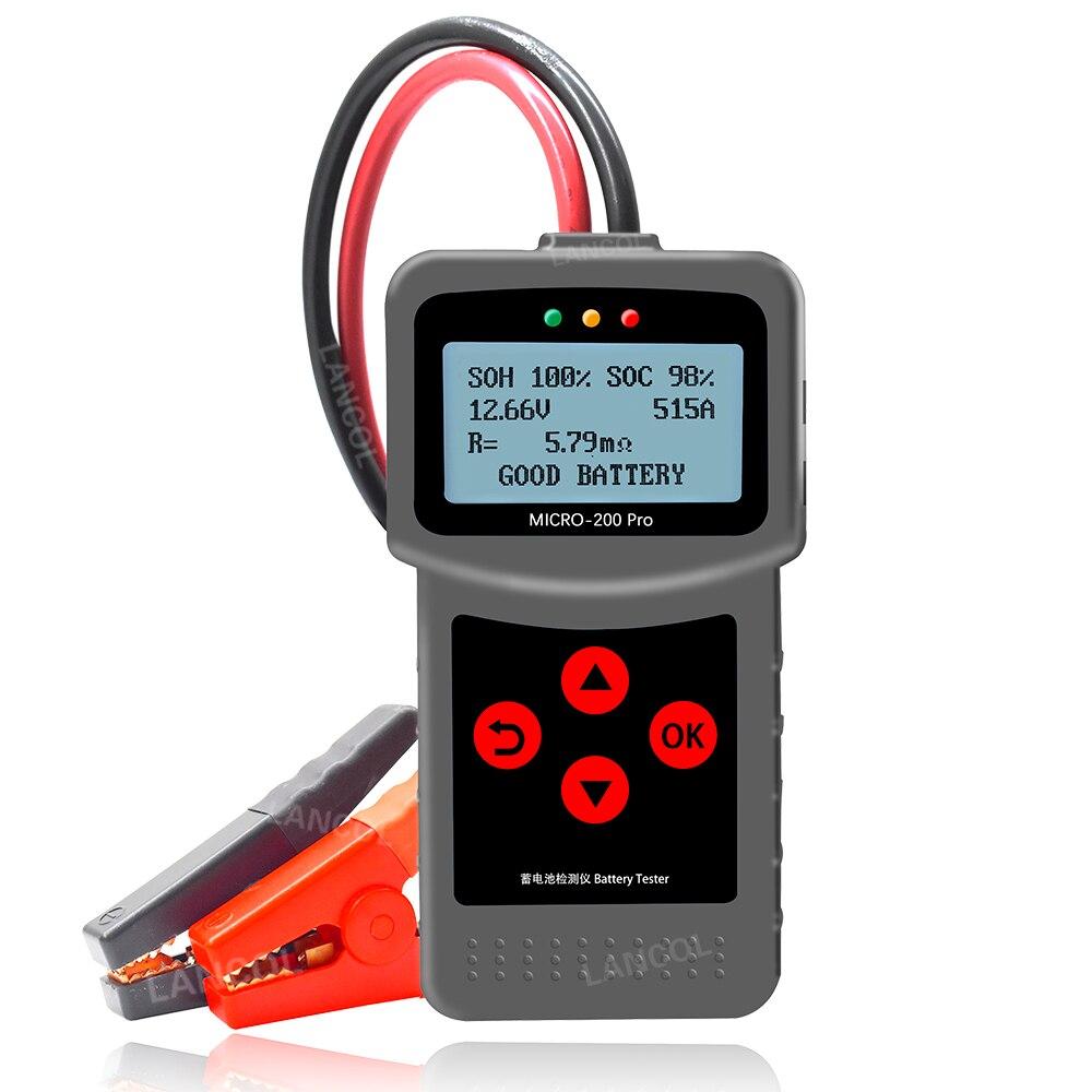 12v 24v car battery tester quick cranking tester alternator 7 led light display auto diagnostic tools 24 volts battery analyze Lancol Micro200Pro 12V Car Battery Tester 40 to 2000CCA  Battery Tools For The Car Quick Cranking Charging Diagnostic Tool