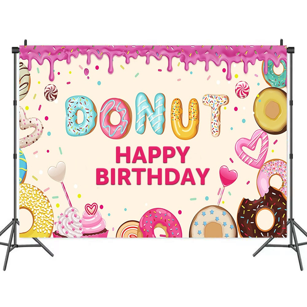 cosmic dark blue flash starry sky background for photography child birthday portrait photographic backdrops for photo studio Pink Donut Sweet Heart Background for Portrait Photography Birthday Party Decors Photographic Backdrops Photocall Studio