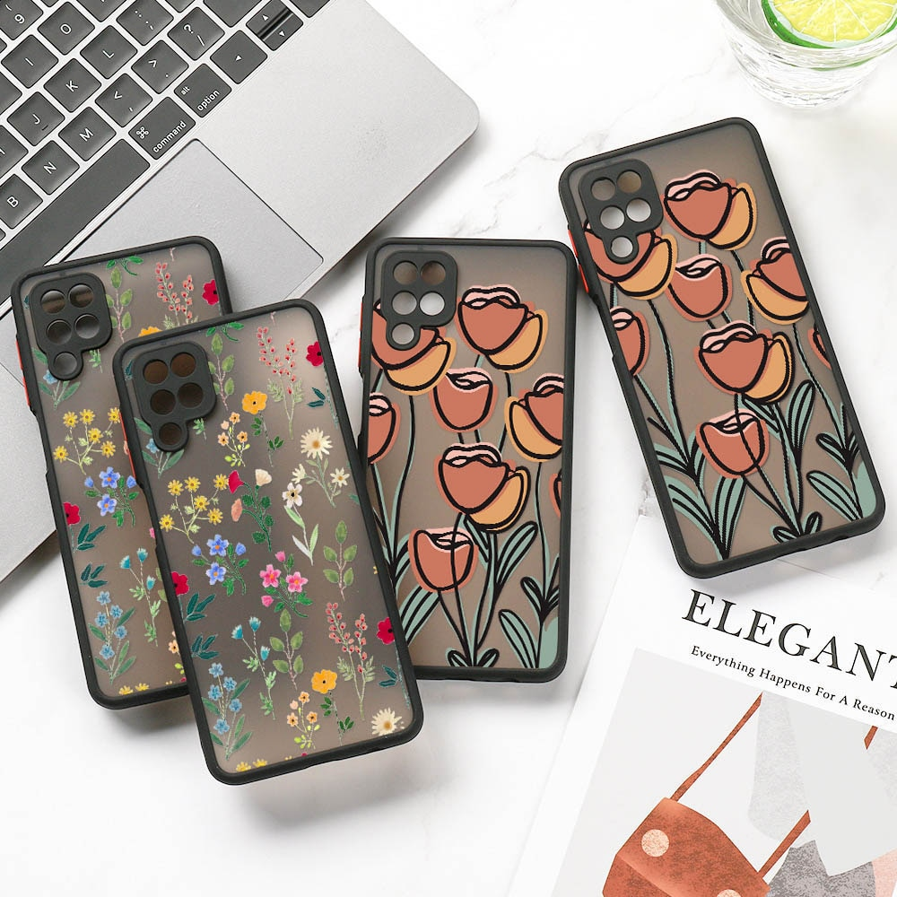 Flower Painted Case For Samsung S21 Ultra Case Cute Coque For Samsung S20 FE S30 Ultra S10 S9 S8 Plu
