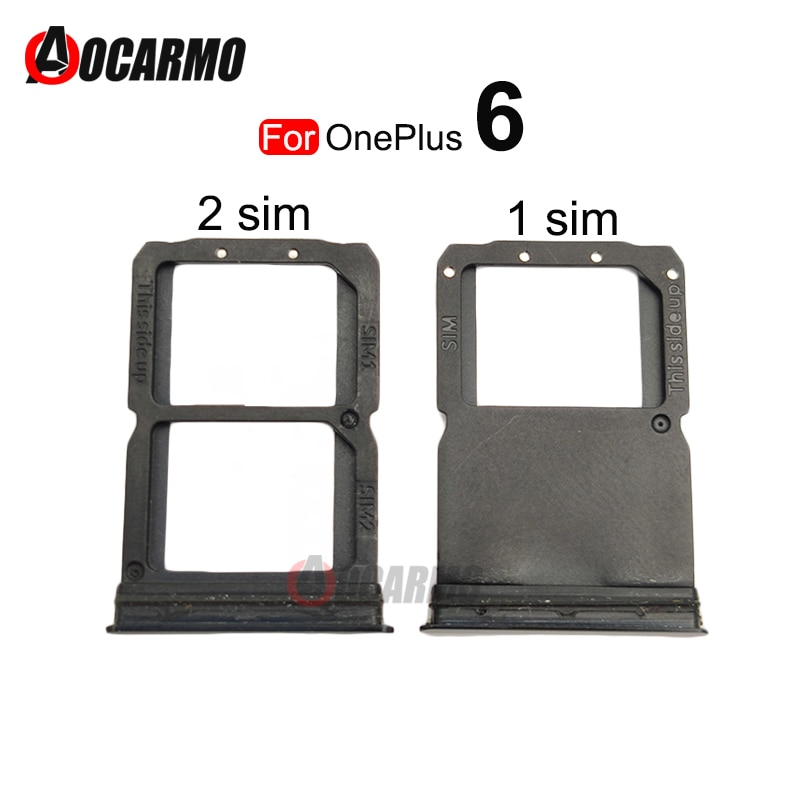 Single and Dual SIM Tray For OnePlus 6 Sim Card Holder Slot Repair Replacement Part