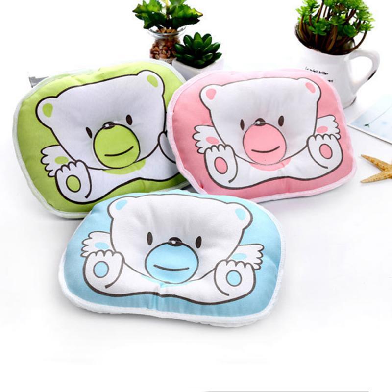 Almohada de cabeza para bebé recién nacido, previene que los bebés se giren y se caigan, almohada de seguridad duradera cómoda para dormir, almohada de cama de oso de dibujos animados