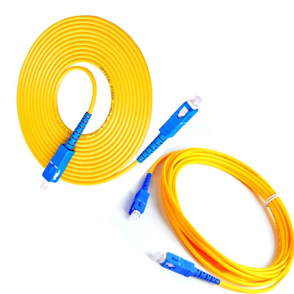 5 unids/bolsa 1m/2m/3m/5m/10m/SC/UPC-SC/UPC-SM 3mm Cable de puente de fibra óptica Cable de...