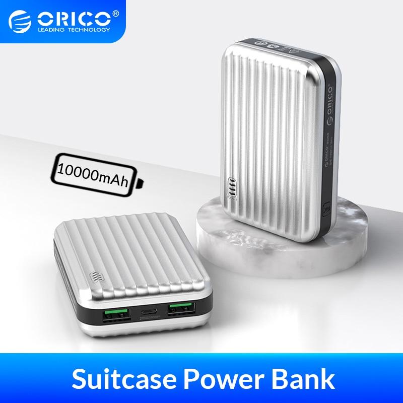 Orico 10000mah power bank mala de carregamento da bateria móvel externo powerbank para viagens para smartphone pequeno poverbank