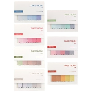 4/7 Pcs Creative Gradient Color Classification Memo Pad Sticky Notes Writing Pads Label Mark Stickers Stationery School Supplies