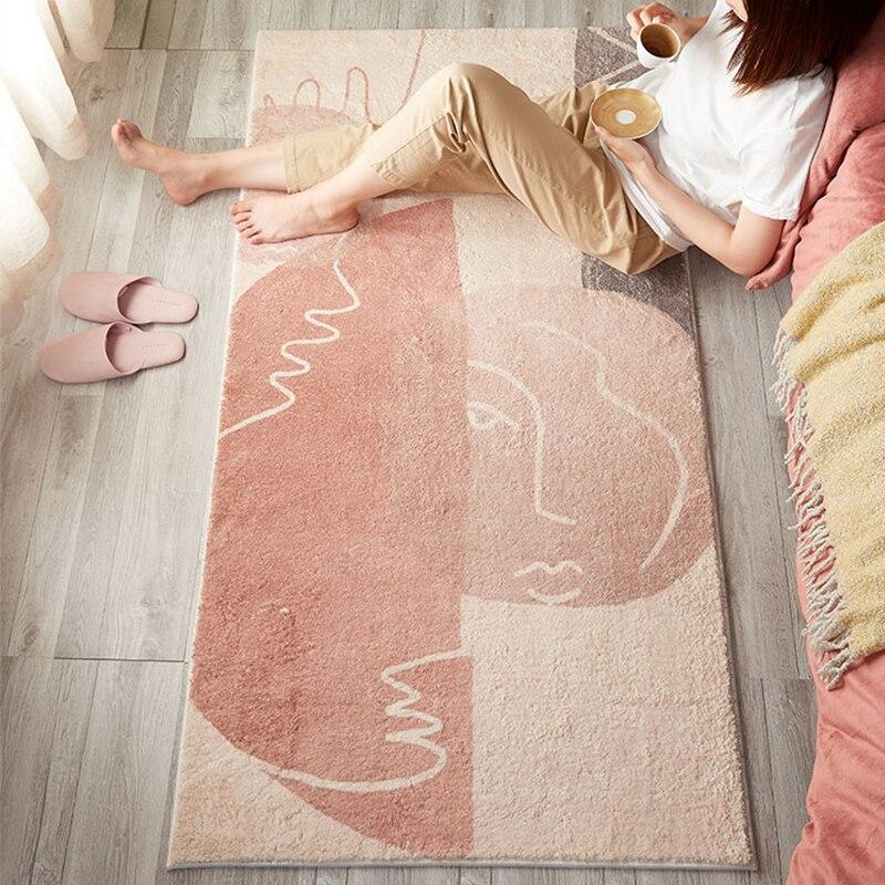 Living Room Carpet Home Bedroom Bedside Rugs Nordic Modern Household Hallway Floor Rug Soft Carpet Kids Room Coffee Table Floor
