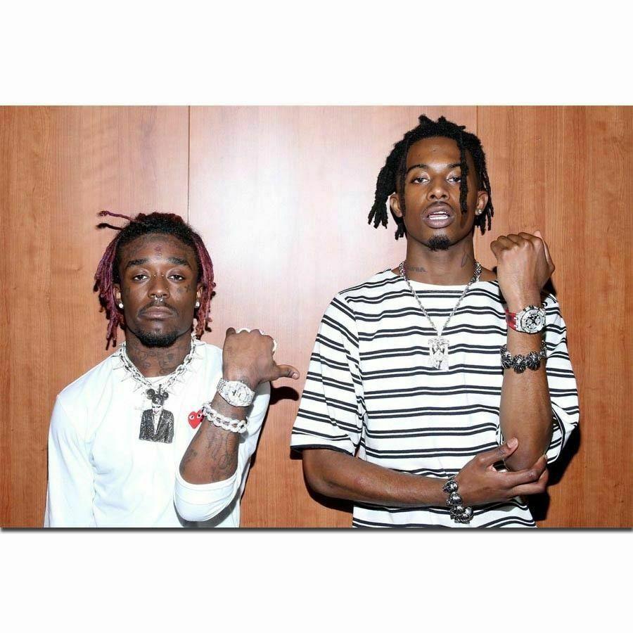Popular Lil Uzi Vert Playboi Carti Big Bank Rap música pegatina de pared de estrella decoración del hogar póster de Arte de seda