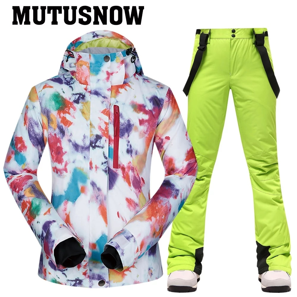 -30 degree Ski Suit Women Winter Female Jackets and Pants Warm Waterproof Women's Jacket Outdoor Snowboard Cycling Camping Brand