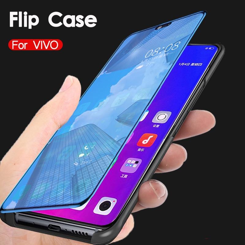 Espejo inteligente caso ViVo V17 Z5X Z1 Pro IQOO NEO fundas de cuero para ViVo S1 Z5 Z1X Y7S Y17 Y3 Y15 Y12 Y11 2019 cubierta