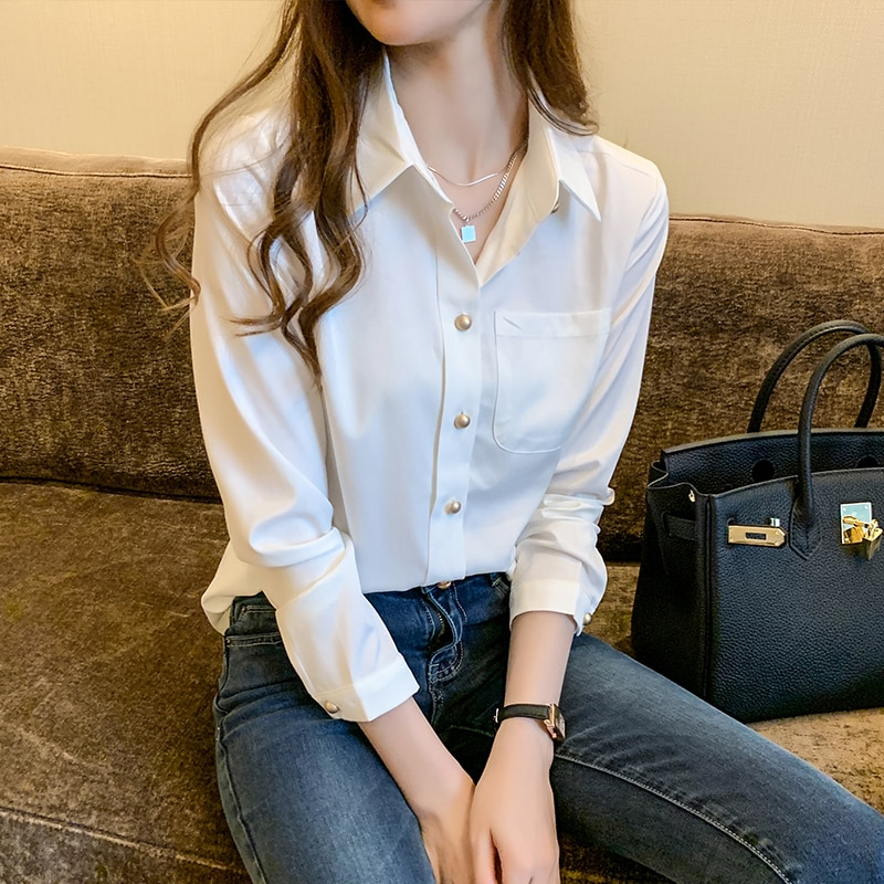 White Chiffon Shirt Women's Summer 2021new Fashion Loose and Slimming Shirt Design Sense Niche Shirt