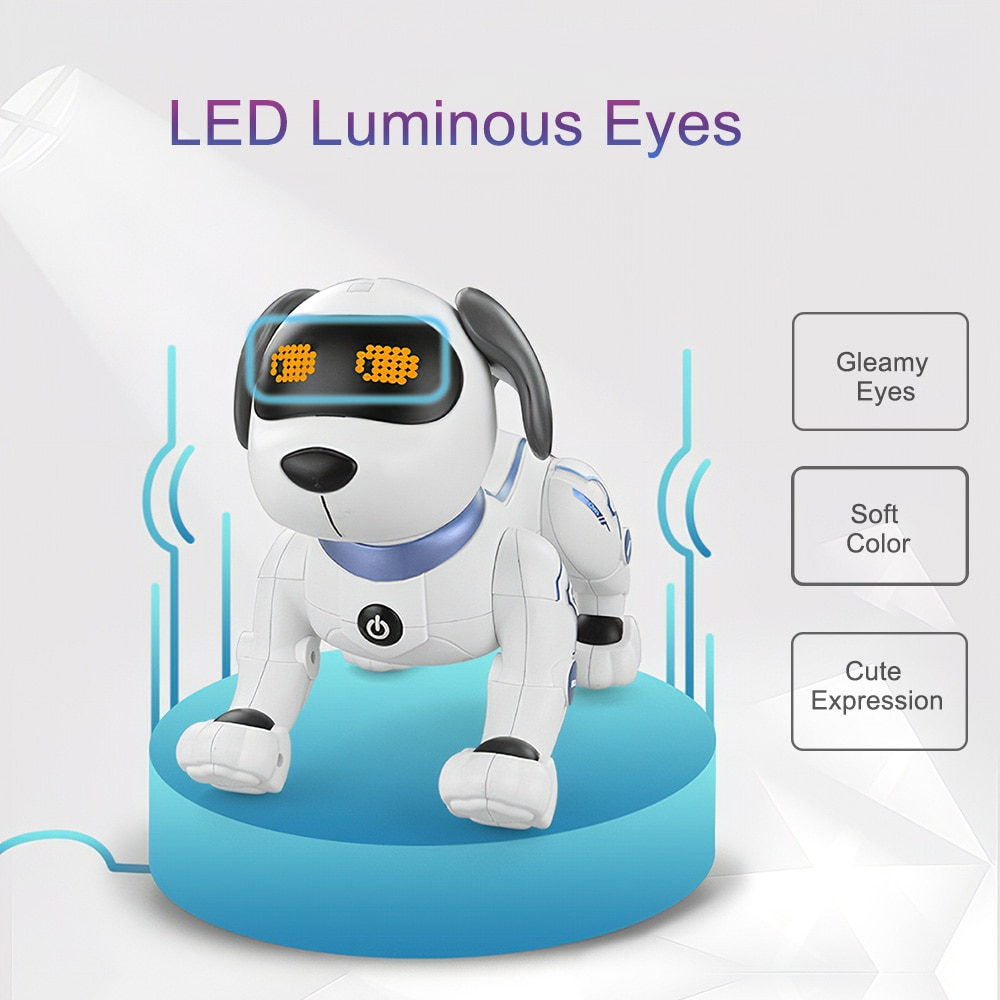RC Electronic Robot Dog Cute cartoon pet Voice Music Song Interesting Interactive Multifunction simulation dog Toys For children enlarge