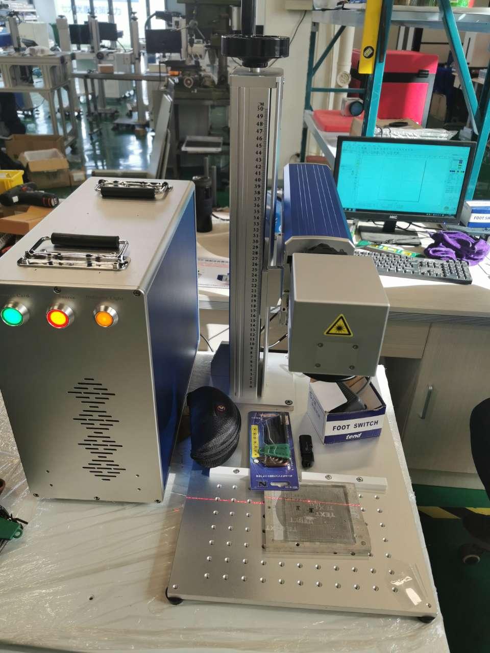 MOPA JPT M7 máquina de grabado láser de fibra desmontable 100w 175*175mm BY-100GS Metal aluminio plástico máquina de marcado