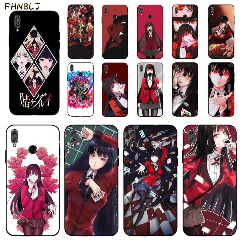 FHNBLJ Anime japonés Kakegurui Jabami Yumeko funda de teléfono de lujo para Huawei Honor 8x9 10 20 V 30 pro 10 20 lite 7A 9lite
