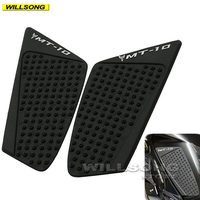 Silica Gel Anti Slip Sticker Tank Pad Side Knee Grip Protector For YAMAHA MT10 FZ10 Motorcycle Accessories