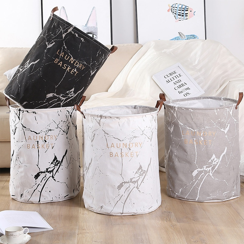 Large Folding Laundry Basket Toys Dirty Clothes Organizer Bucket Printed Collapsible Waterproof Home Clothing Sorter Hamper Bin