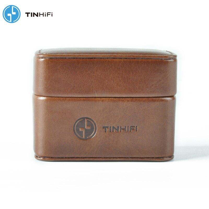 Mini bolso de mano de estaño y Audio TinHifi, estuche rígido para auriculares, estuche portátil de cuero Pu, bolso de almacenamiento de casco