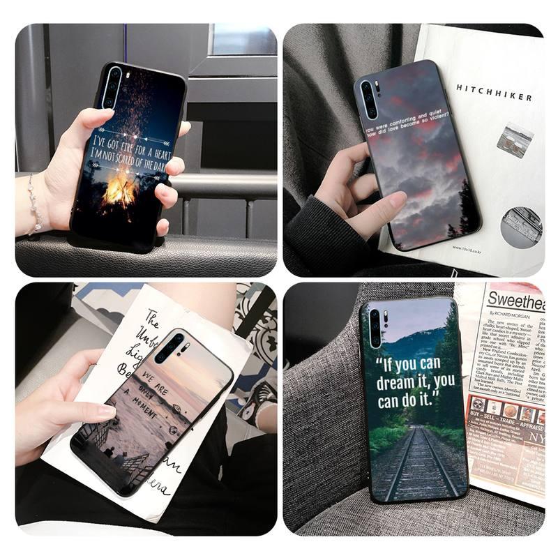 Diccionario de frases funda del teléfono carcasa para Huawei Mate20lite P10 P20 P30pro P30 Mate10Pro caso