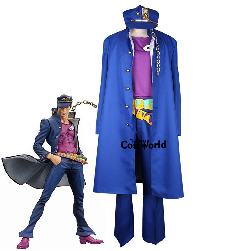 JoJo es extraño aventura Stardust cruzados Kujo Jotaro Kuujou Joutarou uniforme traje Anime personalizar Cosplay disfraces