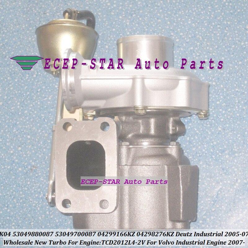 Turbo K04 53049880087, 53049700087-5304-988-0087 04299166KZ 04298276KZ para Deutz Motor Industrial 2005-07 para Volvo TCD2012L4-2V