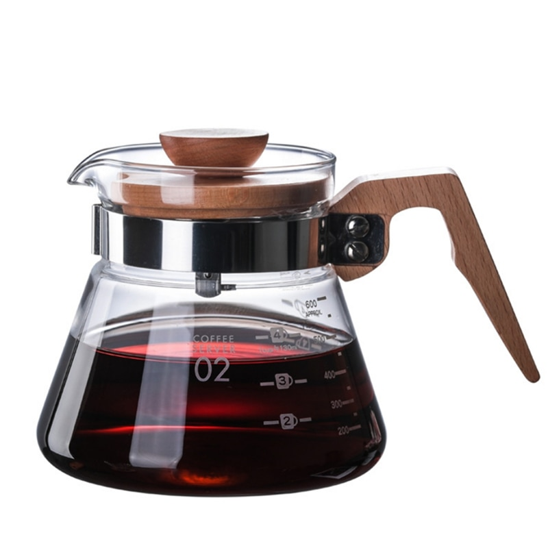 Ecocoffee New Heatproof V60 Pour Over Glass Range Coffee Server Drip Coffee Pot Coffee Kettle Brewer Barista Percolator maker