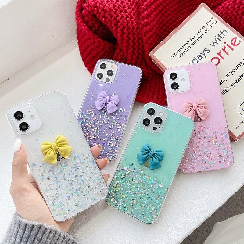 For Huawei Nova 5T 6 7 8 SE 7i Case Cute Candy Color Bowknot Soft TPU Cover For Huawei Nova 2S 2i 3 3i 4 5 5i Pro Phone Case