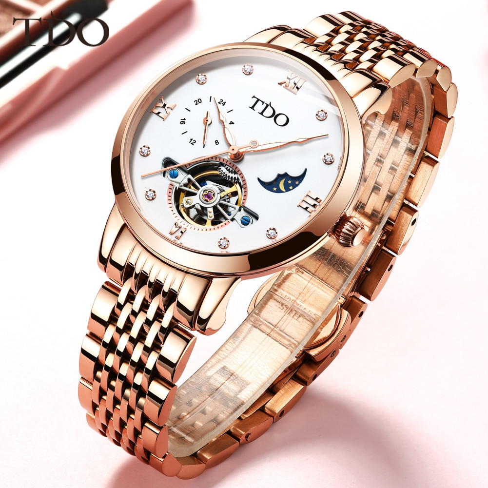 Too Women's Watch, A Small Brand Of Full-Automatic Mechanical Tourbillon Watch, Luxury Women's Watch With Sapphire Mirror enlarge