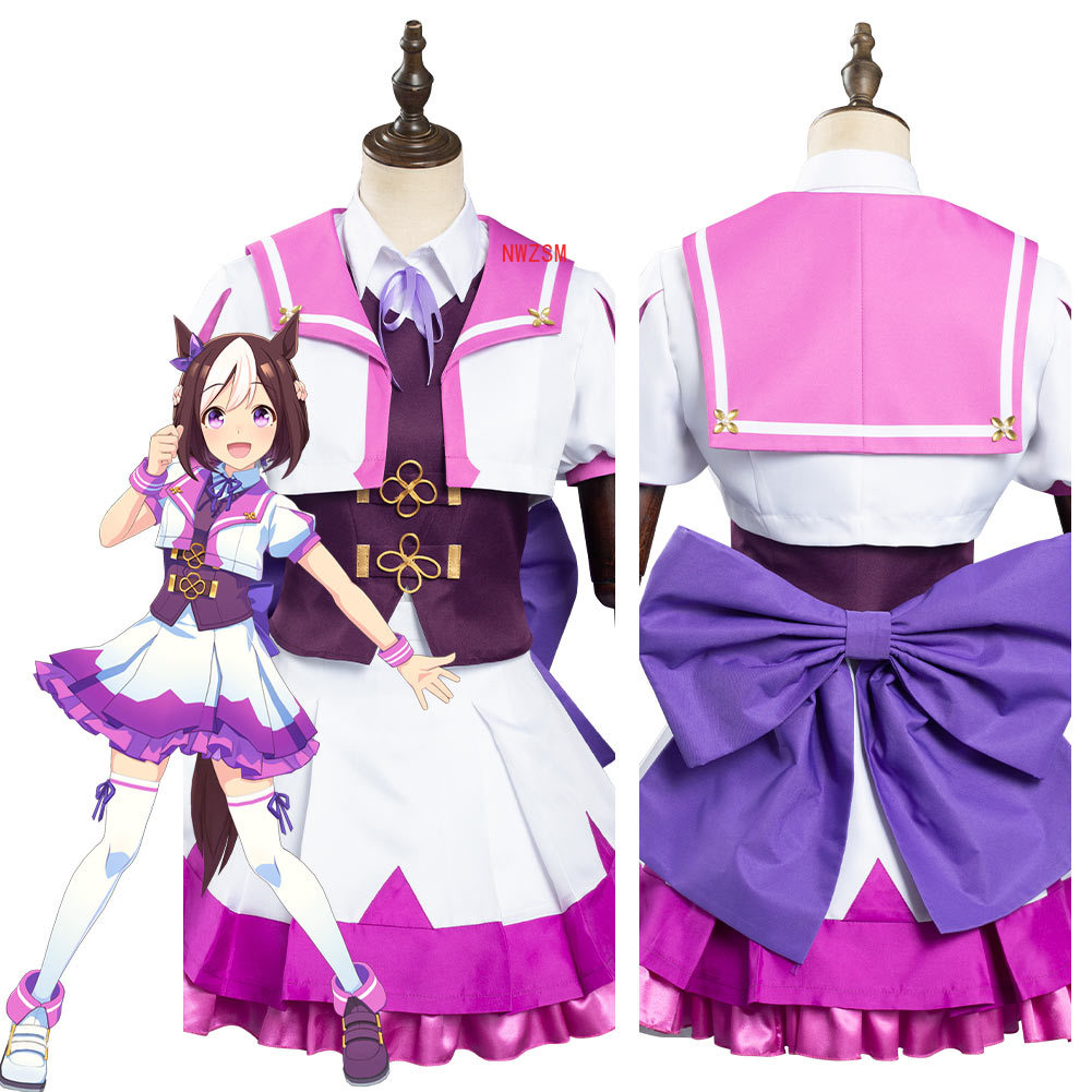 Anime Umamusume Bonito Derby Semana Especial Cosplay Traje Lolita Elegante Vestido Uniforme Outfies