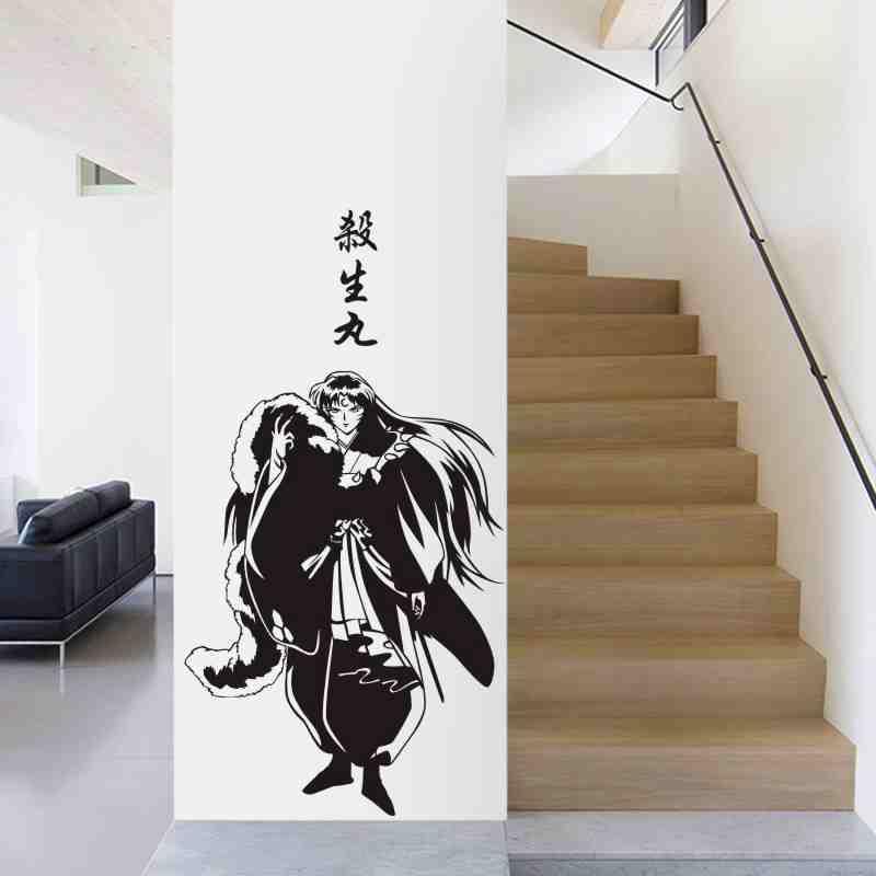 Inuyasha kirara adesivo de parede anime dos desenhos animados decalque do carro adesivos de parede de vinil decoração de casa anime inuyasha decalque da parede
