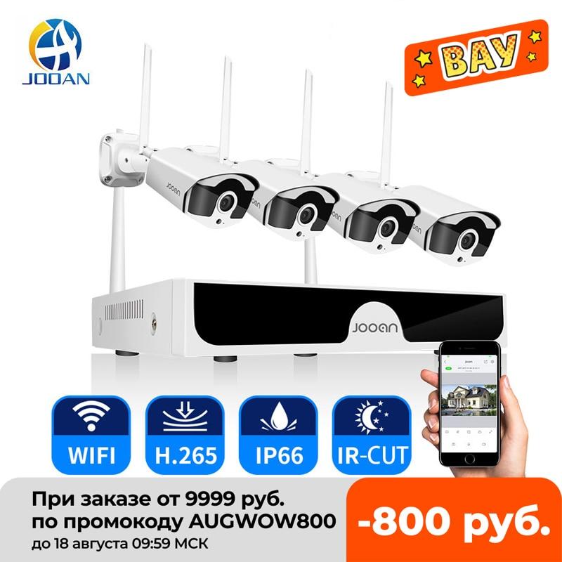 Jooan 8CH NVR HD 3MP CCTV Camera System Audio Record Outdoor P2P Wifi IP Security Camera Set Video Surveillance Kit