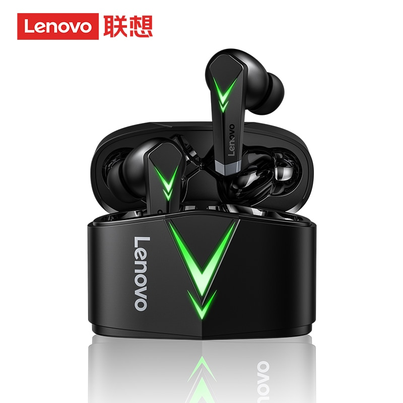 Lenovo-auriculares inalámbricos con Bluetooth LP6 para juegos de e-deportes alta calidad pecado...