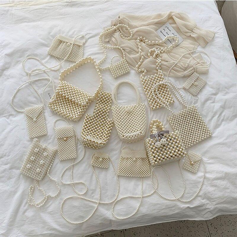 Nueva llegada Vintage Retro perla Linda Mini decoración primaria fiesta teléfono bolso