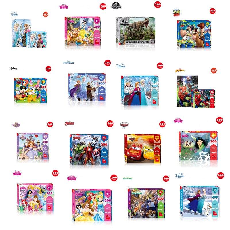 Rompecabezas de Disney de 200 piezas, rompecabezas para niños y adultos, papel de Educación Temprana, juguete congelado de Marvel, regalo de cumpleaños de Mickey Spiderman