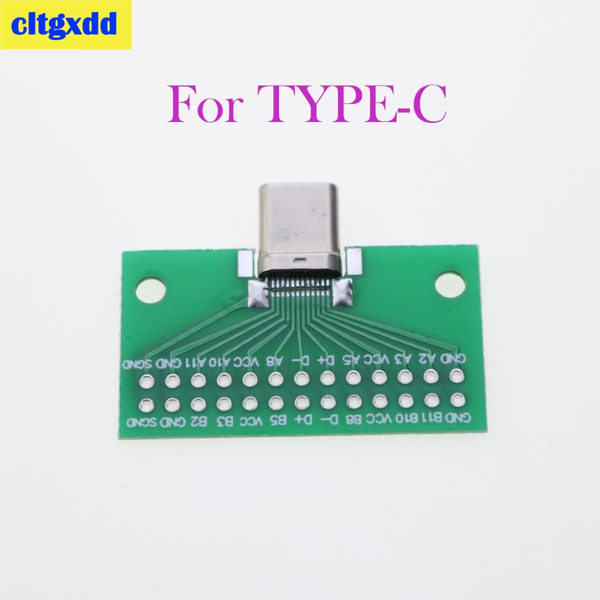 Cltgxdd 1 Uds Conector USB 3,1 tipo C macho a hembra adaptador de placa tipo PCI de prueba para transferencia de Cable de línea