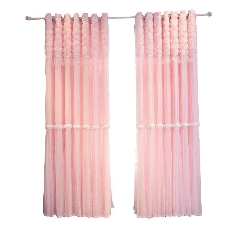 CX مخصصة الكورية نمط عارية الوردي التظليل المرقعة الدانتيل نافذة غطاء شاشة