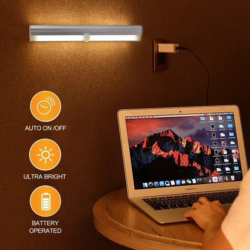 Motion Sensor Wireless Night Lights Bedroom Decor LED Light Detector Wall Decorative Lamp Staircase Closet Room Aisle Lighting enlarge